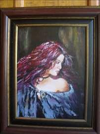 """""""Crvenokosa"""" slika, ulje na platnu"""
