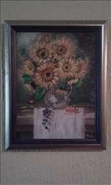 """""""Suncokreti"""", slika, ulje na platnu"""