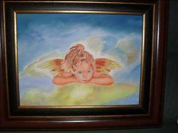 Ulje na platnu, slika, anđelčić