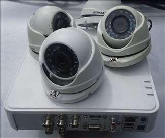 Video nadzor  Hikvision sa 4 kamere korišćeno