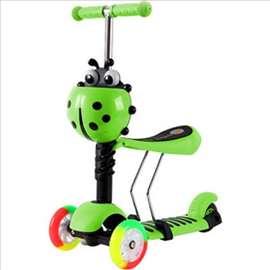 Scooter 3u1 svetleci tockovi, trotinet guralica