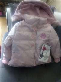 Nova jakna bebi roze sa etiketom za 18m