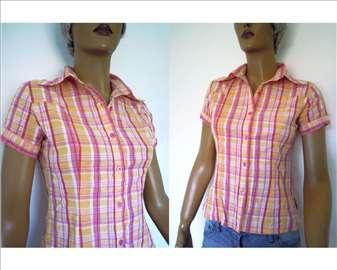 Karirana, pamučna polo košulja, S/M