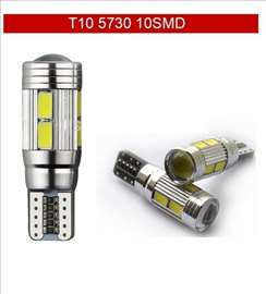 LED sijalice 10 SMD 5730 W5W Canbus - bele