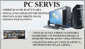 PC servis-video nadzor-grafički dizajn