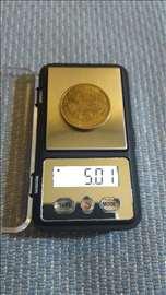 Zlatarska vaga minijaturna 74x42x14mm nova
