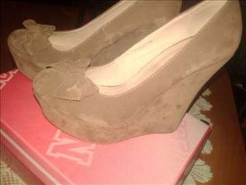 Braon cipele na platformu