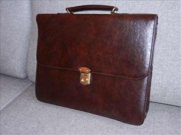 Kožna poslovna muška torba 42x34x14cm, sa elegantn
