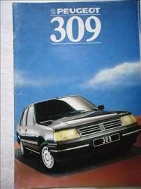 Prospekt Peugeot 309, 1991, A4