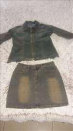Komplet teksas jakna i mini suknjica