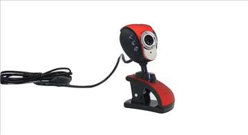 Web camera Terabyte CAM USB Mic & Light, crvena