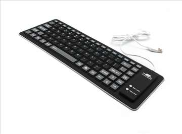 Tastatura Usb Flexy crna