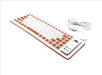Tastatura Usb Flexy narandžasta
