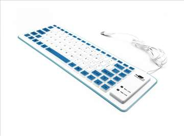 Tastatura Usb Flexy plava