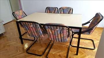 Veliki trpezarijski italijanski sto sa 8 stolica