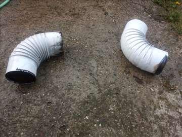 Dva bela čunka 60cm i dve krivine