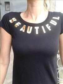 Majica sa zlatnim slovima - Beautiful