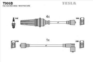 Pezo 104,205 Polozen Motor, Kablovi za Svecice, NO