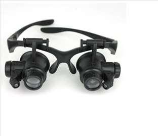 Naočare sa lupom i dodatnim LED