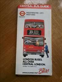 Central bus guide (Mapa Londona)