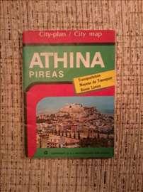 Athina. Pireas. City map