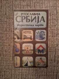 Jugoslavija. Srbija. Turistička karta