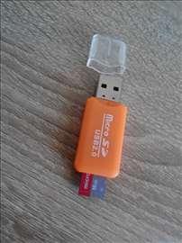 Usb adapter i Mikro SD kartica 16 GB klasa 10
