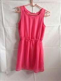 H&M roze haljina+kaiš