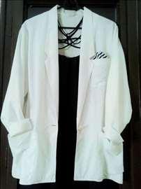 Beli sako sa dva džepa, pamučan