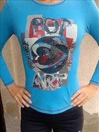 Bluza pop art coton i viskoza