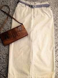 Duga suknja sa kaišem