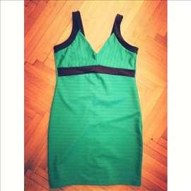 Zelena haljina sa crnim trakama - Herve Leger