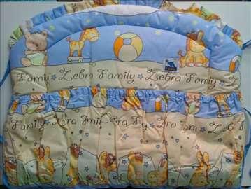 Bebi posteljina sa ogradicom - novo