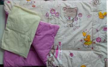 Bebi posteljina sa ogradicom, novo