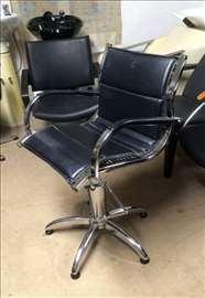 """""""Radium"""" hromirana frizerska stolica, u odličnom s"""