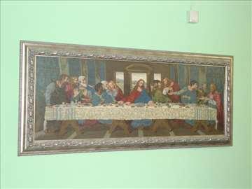 """""""Tajna večera""""Vilerov goblen ručni rad. St. Pazova"""