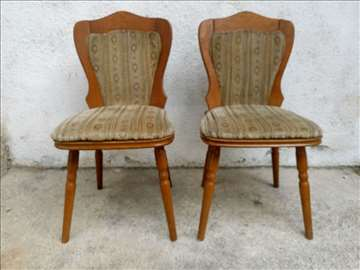 2 drvene stolice