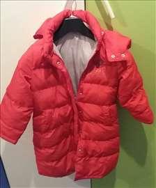 Crvena dugačka jakna (do 104 cm)