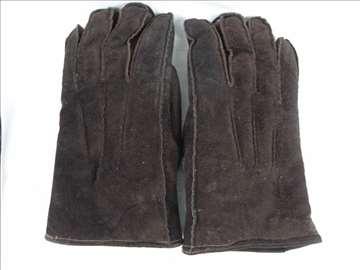 Muške rukavice kožne sa krznom, očuvane, velike.