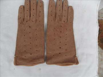 Ženske kožne rukavice, br. XL, oštećene