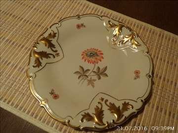 Schlottenhof Arzberg tanjir sa zlato dekorom