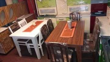 Veliki izbor novih trpezarijskih stolova i stolica