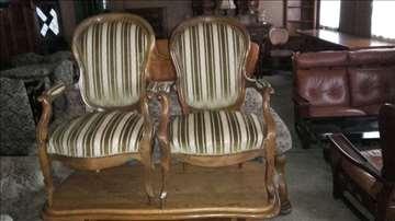 2 fotelje, stare, stilske