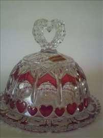 Bleikristal tacna okrugla sa poklopcem