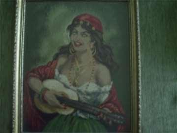 Ciganka sa gitarom - goblen