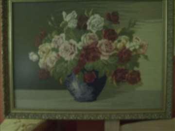 Ruže u vazi - goblen