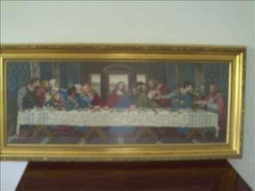 Tajna večera goblen-uramljen 48 x 130