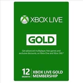 12 meseci Xbox Live Gold pretplata