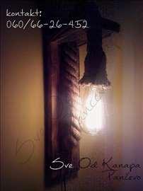 Zidna lampa od kanapa - ručni rad