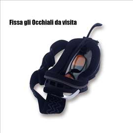 Crne ski  naočare brile UV + anti fog